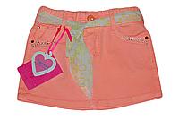Детская юбка для девочки оранжевая с поясом Венгрия