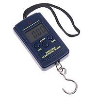 Кантер электронный 20г-40 кг 607, ручные хозяйственные весы, функции: тара, фиксация веса, 2*ААА,