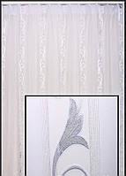 Белая тюль в гостиную комнату