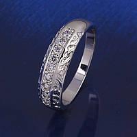 Кольцо покрытие серебром размер 16