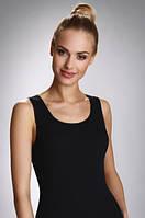 Женская бельевая майка черного цвета на широких бретелях, модель Tania Eldar