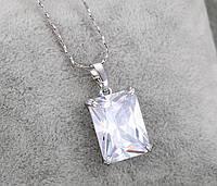 """Подвеска """"Кристалл""""  покрытие серебром  (арт 31833), фото 1"""