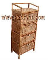 Плетеный комод на четыре ящика