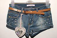 Шорты джинсовые для девочки(8-16)