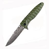 Нож Ganzo G620 зеленый клинок с травлением