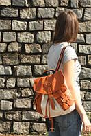 Стильный рюкзак из холста и искусственной кожи