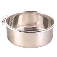 Trixie Stainless Steel Bowl кормушка для птиц стальная 600мл (5498)