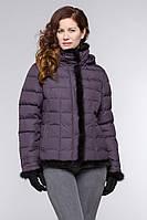 Женский пуховик,короткий,отделка по всей куртке мех-норка