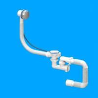 Сифон Flat-Steamer-автомат(ванна нерж.вып)SVD-05