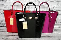 Лакированные женские сумки из кожзама