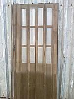 Дверь гармошка полуостекленные  дуб 7036 с доставкой по Украине