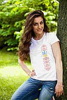 Жіноча футболка з вишивкою Герб