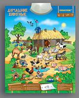 Звуковой плакат Домашние Животные Интерактивный Знаток