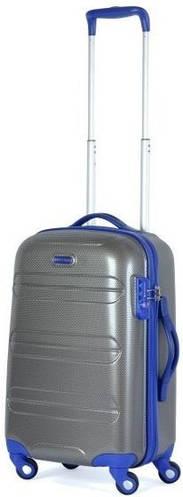 Пластиковый малый чемодан на 4-х колесах 36 л. Puccini PC012, 6300/05 антрацит