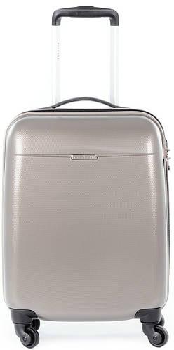 Стильный пластиковый чемодан 36 л. на 4-х колесах Puccini PС-005, 6830/28 золотой