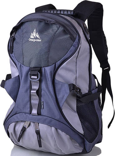 Модный мужской рюкзак 25 л. Onepolar (Ванполар) W1056-grey серый
