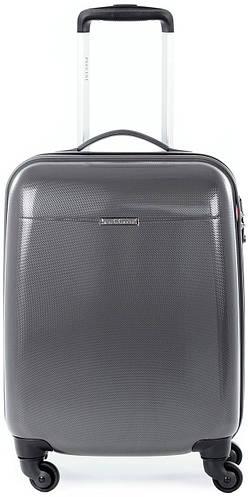 Пластиковый чемодан 36 л. на 4-х колесах Puccini PС-005, 6830/5 антрацит