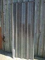 Двери гармошка глухая белая волна 901