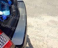 Защитная хром накладка на задний бампер (планка без загиба) Ford Mondeo IV (Форд Мондео 4) 2007г+