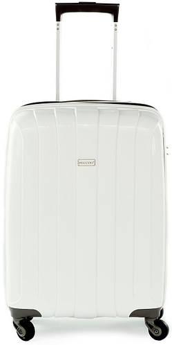 Надежный пластиковый малый чемодан 35 л. на 4-х колесах Puccini PP 006, 8000/06 белый