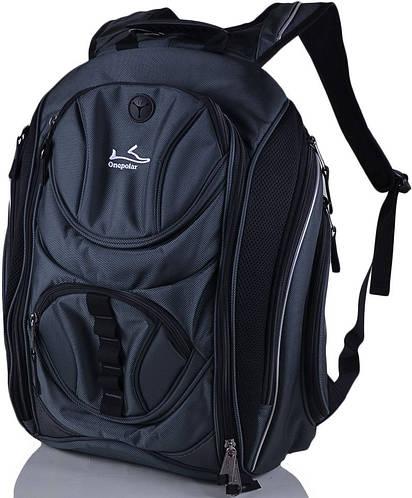 """Мужской качественный рюкзак c отделением для ноутбука 15,4"""" Onepolar W1327-grey серый"""