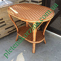 Плетеный столик журнальный (овальный) выс66см 76*56 Арт.699-овальный
