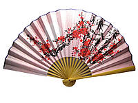Веер бамбук и и ткань с рисунком в ассортименте