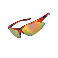 Очки EXUSTAR CSG17-RD сменная линза в комплекте, съемный ремешок. Защита от ультрафиолета. Красный