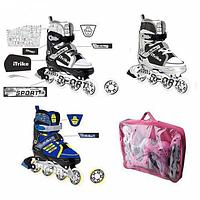 Детские ролики раздвижные A 3015 M с сумкой для хранения (35-38)
