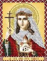 """Схема для вышивки бисером именная икона """"Святая царица Тамара"""""""