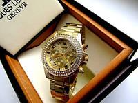 Наручные часы женские Rolex Diva золото в стразах