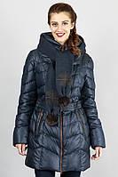 Женская куртка на синтепоне  с шарфом