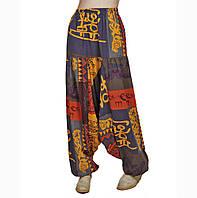 Хлопковые брюки с африканским узором