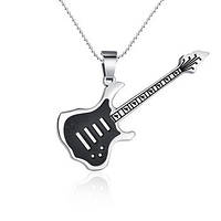 Подвеска женская Гитара чёрная вставка