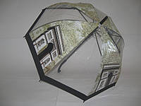 """Прозрачный зонт - трость города №006 от фирмы """"FEELING RAIN"""""""