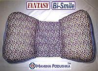 Подушка для беременных Fantasy Bi-Smile. В комплекте Наволочка 2-сторонняя (Фиолетов.цветочки / Т.синие точки)
