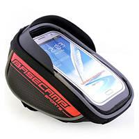 Велосипедный чехол-сумка для телефона BaseCamp на руль - красный цвет