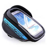 Велосипедный чехол-сумка для телефона BaseCamp на руль - синий цвет
