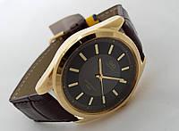Часы мужские Q@Q  классические в золоте, водозащита 5Bar, Q255J101Y
