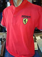 Футболка мужская красная Ferrari с воротником 630