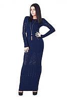 Вязаное женское платье макси 183