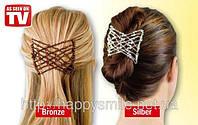 Чудо-заколка EZ COMBS Magic Hair Set. Изи Коум – легкие и удобные гребешки для волос - 2 шт. в наборе