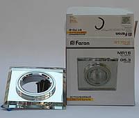 Встраиваемый светильник Feron 8170 MR16 c LED подсветкой серебро