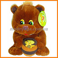 Медведь с бочонком мёда 25 см   Мягкая игрушка мишка