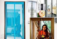 Антимоскитная сетка-штора на дверь на магнитах (210х90 см)