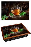Поднос на подушке Мятный чай