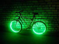 Подсветка  велосипеда—зеленая (светодиодной лентой).