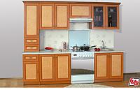 Кухня Оля Люкс 2,0м  ротанг (модульная система)