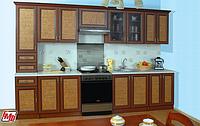 Кухня Оля Люкс 2,6м  ротанг (модульная система)