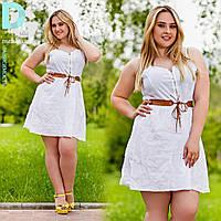 Платье из льна № 3523